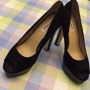Steve Madden Rossi peeptoe platform/tapered heels